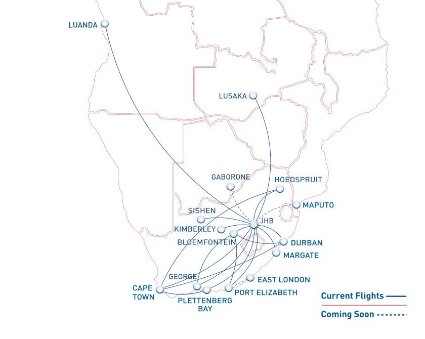 Scheduled Flights with CemAir, now including Kimberley and Richards Bay