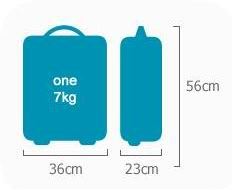 Hand baggage dimensions for CemAir