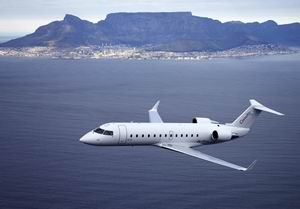 CRJ in flight Cape Town