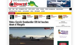 Video: CemAir Bombardier CRJ Jet touches down at Margate