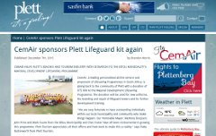 CemAir sponsors Plett Lifeguard kit again